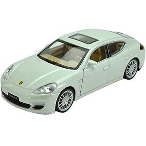 Fahrzeuge Spielzeug Fertigmodell Modellauto 1:32 Porsche Panamera Weiß Diecast Modellauto
