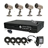 CIB R401H60W500G8653 4CH Security Surveillance DVR Four CCD Bullet Cameras KIT. Eagleeyes Software by CIB Security