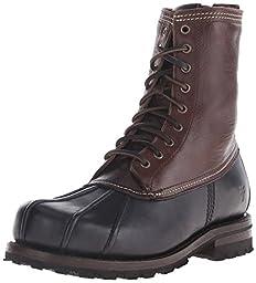 FRYE Men\'s Warren Duck Rain Boot, Black/Multi, 7.5 M US
