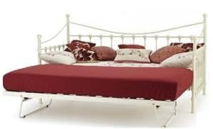 tagesbettgestell im franz sischen antikstil wei day bed trundle wei k che. Black Bedroom Furniture Sets. Home Design Ideas