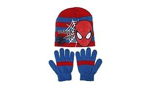 MARVEL Conjunto Gorro y Guantes Web Spider (Rojo)