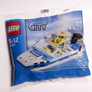 LEGO City Mini Figure Set #30017 Police Boat Bagged - 1