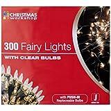 The Christmas Workshop 300 Shadeless Clear Fairy Lights