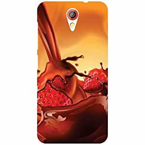 HTC Desire 620 Phone Cover-Chocolate Syrup Matte Finish Phone Cover