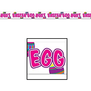 Easter Egg Hunt Poly Decorating Material Party Accessory (1 count) (1/Pkg)