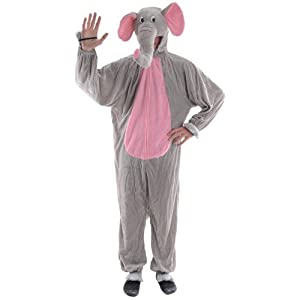 Elephant Adult Animal Fancy Dress Halloween Costume O-s from wicked