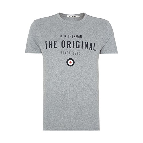 Ben Sherman -  T-shirt - T-shirt  - Basic - Maniche corte  - Uomo Grey Medium