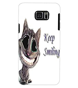 ColourCraft Funny Cat Design Back Case Cover for SAMSUNG GALAXY NOTE 5