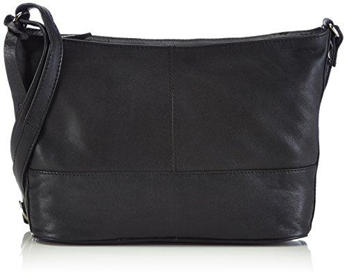 Clarks Tollard Drive, Borsa a spalla donna, Nero (Nero (Black Leather)), 28x24x10 cm (B x H x T)