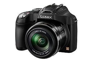 Panasonic DMC-FZ72EB-K Lumix Bridge Camera (16.1MP, Super Telephoto 60x Optical Zoom, 20 mm Ultra Wide Angle Lens) - Black
