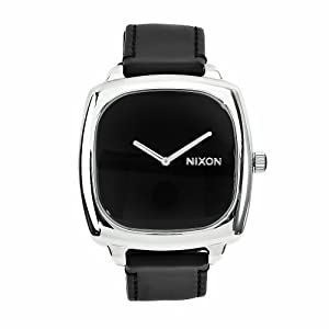 nixon shutter black damen schwarz leder armband edelstahl. Black Bedroom Furniture Sets. Home Design Ideas