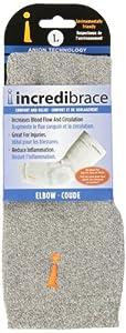 Incrediwear Elbow Shin Brace - INCREDIBRACE (Large, Grey) by Incrediwear