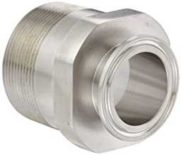Dixon 21MP-G150200 Stainless Steel 304 Sanitary Fitting, Clamp Adapter, 1-1/2\