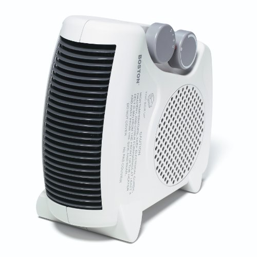 Boston Floor-Upright Space Heater, White (25986)