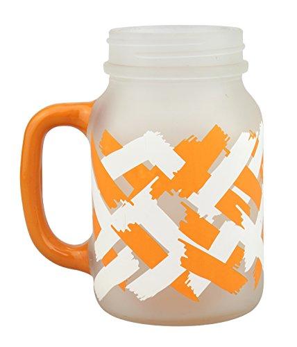 Top Shelf TS-6057WB Mason Jar, Volatile Orange and White
