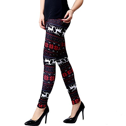 ensasa-womens-autumn-winter-snowflake-graphic-printed-stretchy-leggings-pants-black-red-reindeer-med