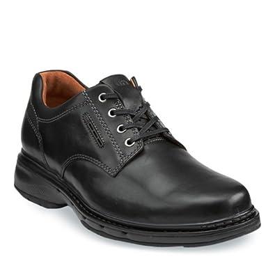 Clarks其乐高端优跃系列Un.Centre男士休闲鞋 羊皮内衬 棕折后$104.96