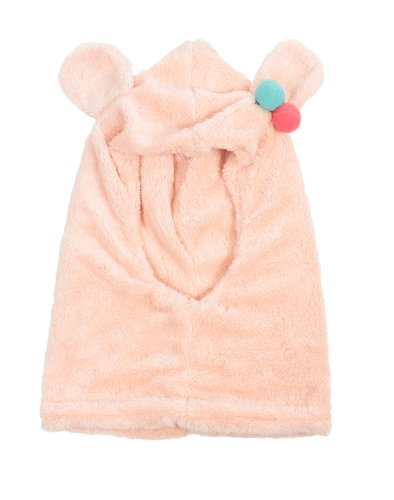 Simplicity Child Plush Neckwarmer & Hat Neckerchief, Conjoined Winter Set, Pink front-833633