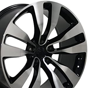 20″ Fits Dodge – Charger Style Replica Wheel – Black Machined Face 20×10