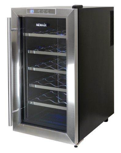 Lowest Price! NewAir AW-181E Space Saver 18 Bottle Thermoelectric Wine Cooler, Stainless Steel