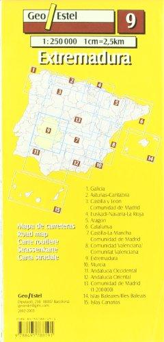 Extremadura: Extremadura Road Map 1:250, 000 (Mapas de carreteras. Comunidades autónomas y regio)