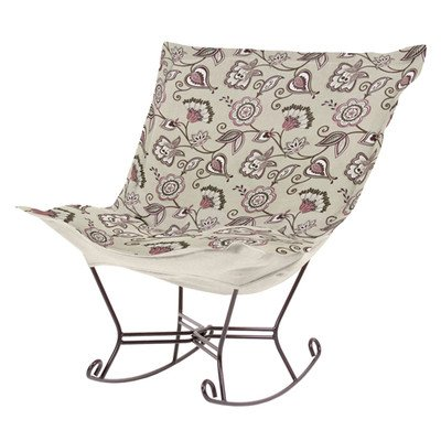 Howard Elliott 600-219 Avignon Scroll Puff Rocker With Titanium Frame, Eggplant front-603647