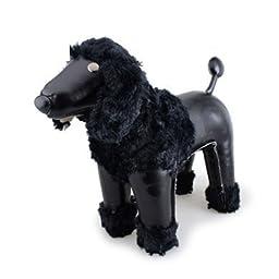 Zuny ZCBV0050BLK Poodle Puppy Black Bookend