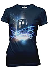 Doctor Who Tardis in Space Junior's T-Shirt