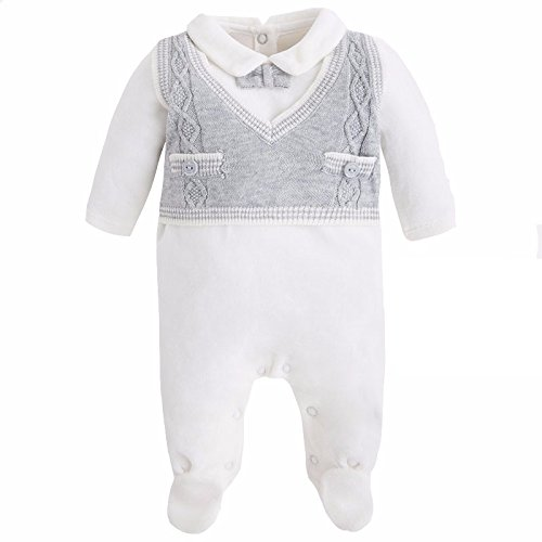 Newborn tutina ciniglia con gilet in maglia (65)