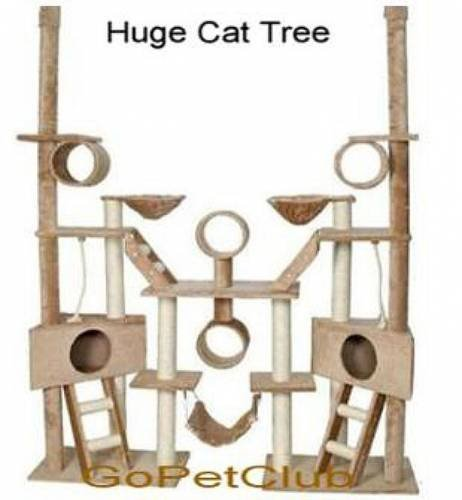 Cat Tree Condo Furniture, 106-Inch, Beige