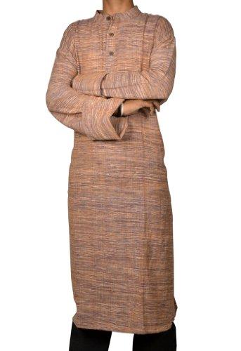 Traditional Casual Wear Indian Khadi Long Mens Kurta Fabric For Winter & Summers Size 5XL