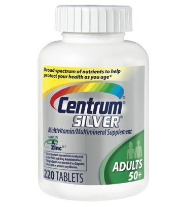 Centrum Silver, Multivitamin/ Multimineral Supplement, Adults   50,220 Count Bottle $19.29