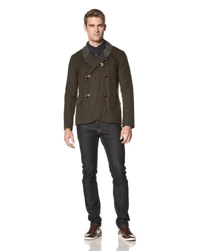 Common People Men's Wax Cotton Jacket  [Olive]
