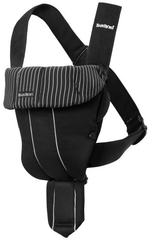 Read About BABYBJORN Baby Carrier Original - Black/Pinstripe, Classic