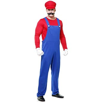 Pete the Plumber Costume - Small - Chest Size 38
