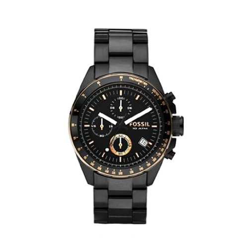 Fossil Men's CH2619 Black Stainless Steel Bracelet Black Analog Dial Chronograph Watch