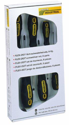 Proxxon-22604-FLEX-DOT-Schraubendreher-Satz-Schlitz-und-Phillips-6-teilig
