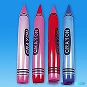 """Set Of 4 Jumbo 44"""" Crayon Inflates"""