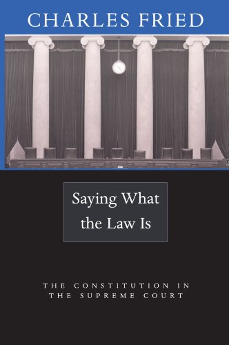 Saying What the Law Is: The Constitution in the Supreme...