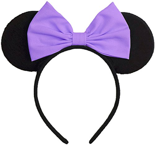 [Minnie Mouse Ears Inspired Light Purple Daisy Duck Hair Bow Headband Women Girls Mickey Inspired Halloween Costume Birthday Party Theme Outfit by Sweet in the] (Daisy Duck Costumes For Toddlers)