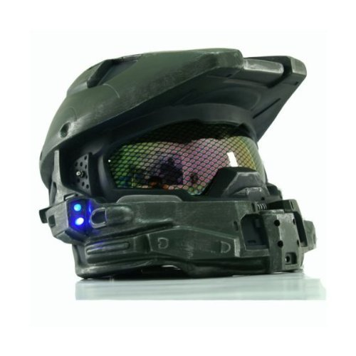 Halo 4 Master Chief Helmet; Blue Flash LED Light, Master Chief Cosplay Armor