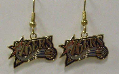 NBA Dangling Earrings - Philadelphia 76ers Logo