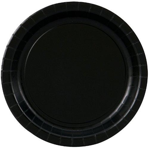 Black Velvet Dessert Plates (Round)