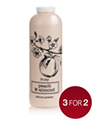 Natures Extracts Peach & Almond Talcum Powder 150g