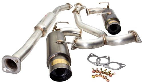 """FITS 06-UP HONDA CIVIC 2//4DR BOLT-ON STAINLESS STEEL MUFFLER 4/"""" OUT BURNT TIP"""
