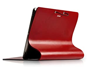 EVOUNI L09-0bn Leather Arc Cover for The New iPad / iPad2 (Claret)