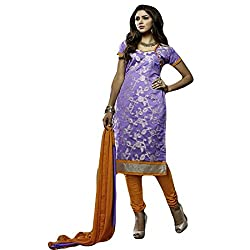 Typify Women's Chanderi Unstitched Dress Material (TYPIFY216_Multicolor_Free Size)