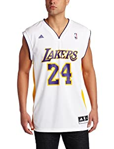 NBA Los Angeles Lakers Kobe Bryant White Replica Jersey by adidas