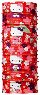 BUFF Tuch, Multifunktionstuch. Hello Kitty Design. Hearts. Halstuch, Kopftuch. Junior. Gr. 50-55 cm Kopfumfang