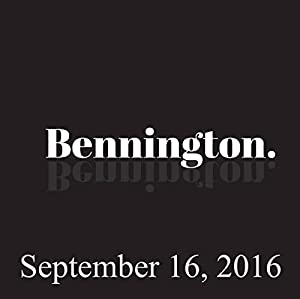 Bennington, September 16, 2016 Radio/TV Program